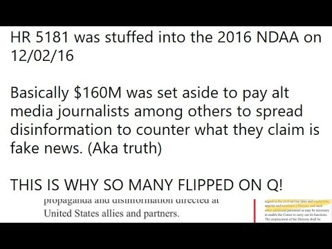 Q Anon 8-8-18: Obamas $20M ALT MEDIA Budget, PROOF of Directed Energy Weapons in Military Budget!!