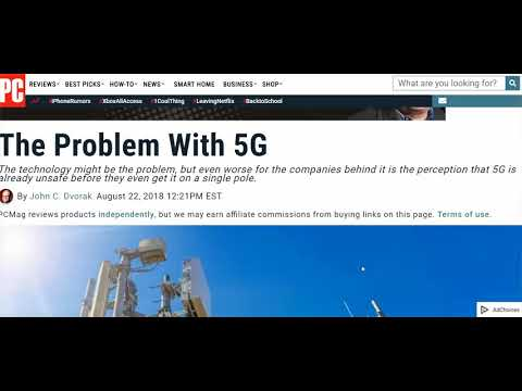 PC Magazine Re: 5G: Stupid Public Will Pay For Jazzy Even If It Effects Health; Here's The Effects
