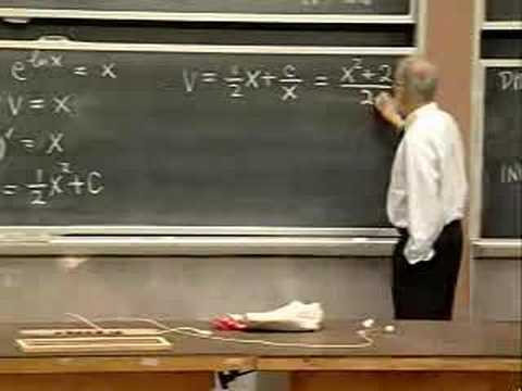Lec 4   MIT 18.03 Differential Equations, Spring 2006