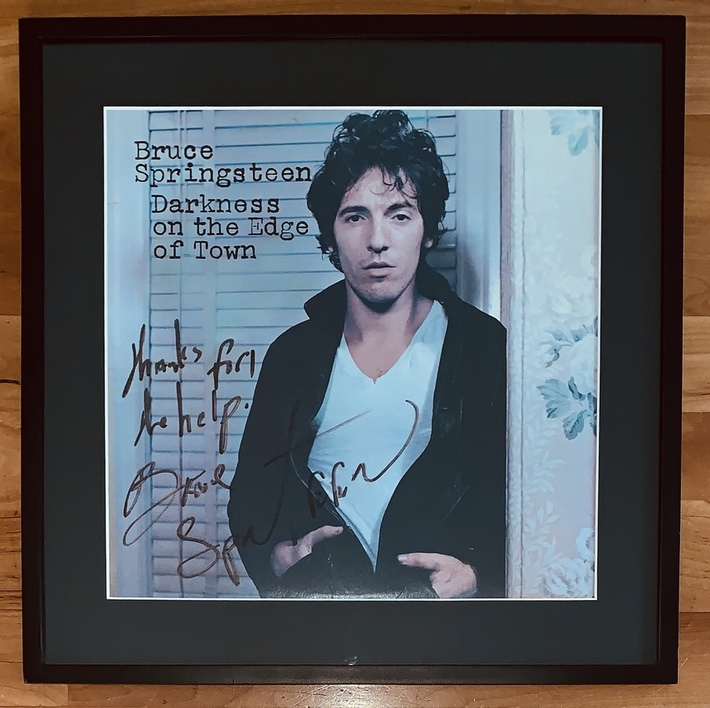 Bruce Springsteen - late 70s signature with inscription