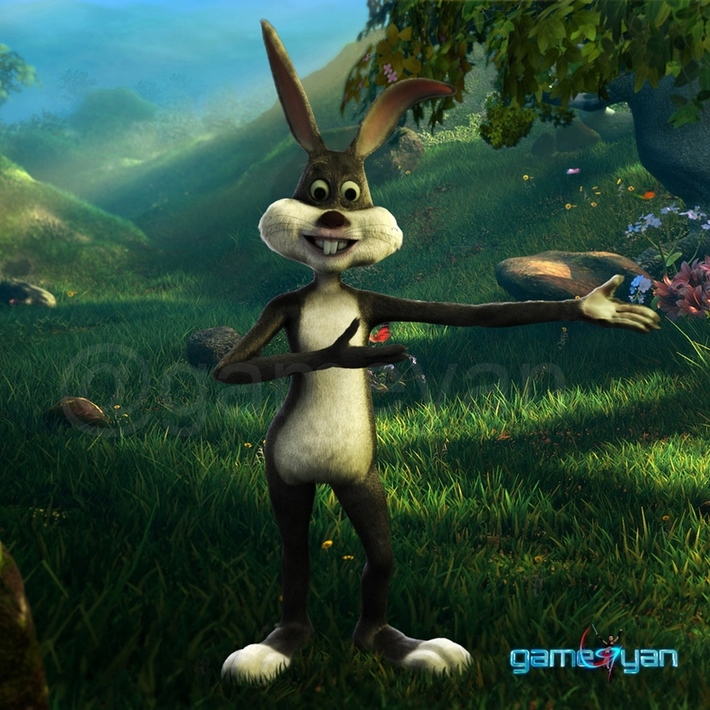 3D Bunny character modeling for short animated film by Game Outsourcing Company