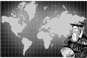 Papirkart over hele verden