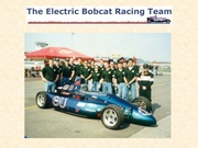 Sponsorship of a precursor race car  to Formula e