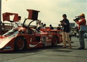Josie in the pits at Mt. Fuji, mid-1980s