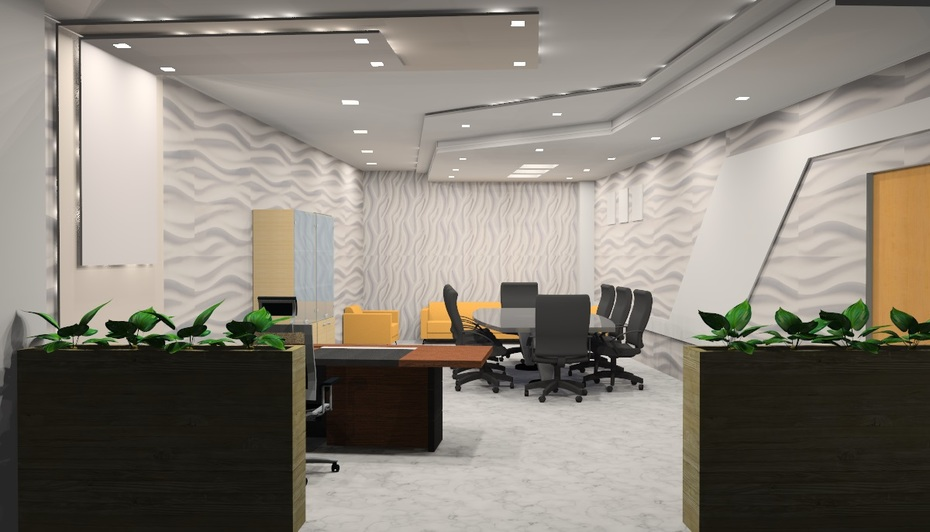 Corporate Office Interior covering overall view