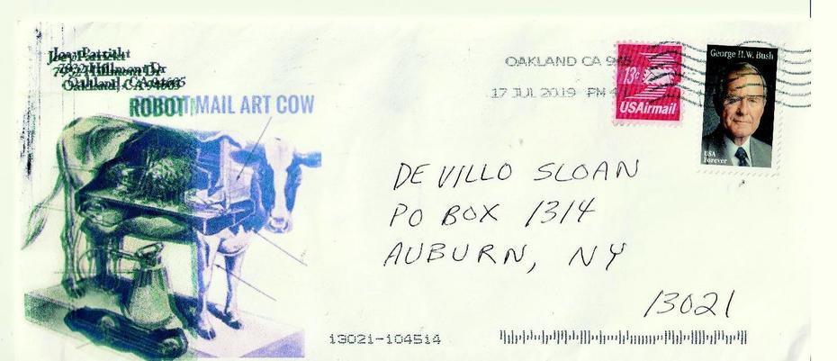 Mail art by Joey Patrickt (Oakland, California, USA)