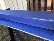 Started laying down the metallic blue