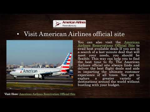 American Airlines Reservations Official Site