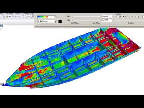 Andrei Rochian Boat Design . A study with F E A  software of  Aluminium  Boat Bottom