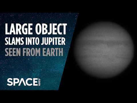 Large Object Slams Into Jupiter - Seen From Earth