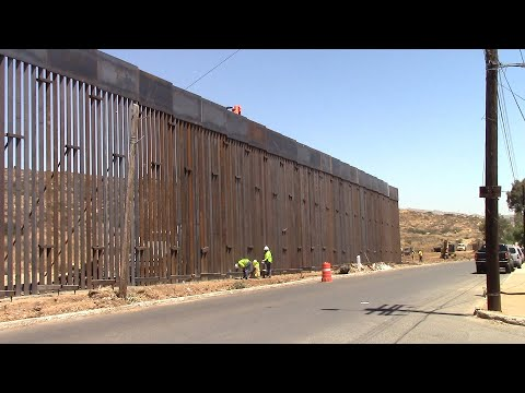 Border Fence Construction in Tecate Started