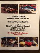 Classic Car & Motorcycle Cruise In, at Pine Forest Baptist Church