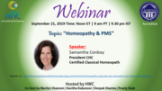 Homeopathy and PMS by Samantha Conboy, CHC President-ACHENA accredited