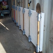 The garden tools holder painted