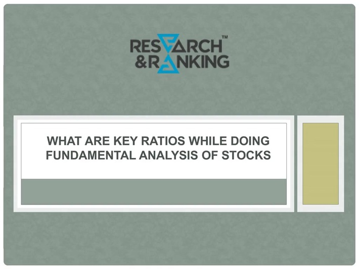 What are Key Ratios while doing Fundamental Analysis (1)