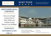 Save The Date - GroundBreaking Ceremony