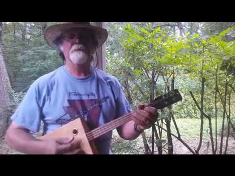 Summertime on Cigar Box Baritone Ukulele