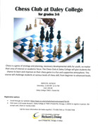 Chess for 3-8 grades at Daley College