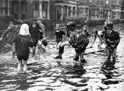 Children Playing in Flooded Harringay Road, 1937