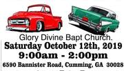 8th ANNUAL GLORY DEVINE BAPTIST CHURCH CAR SHOW -Cumming, GA