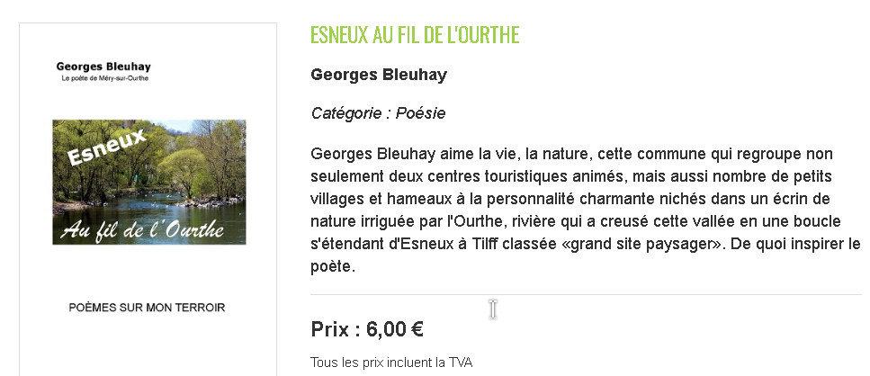 Georges Bleuhay, le poète de Méry-sur-Ourthe (Wallonie)