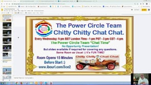 The Best Team Everyone Working Together As One Power Circle Team Chitty Chitty Chat Chat Webinar Reply 21st Aug 2019