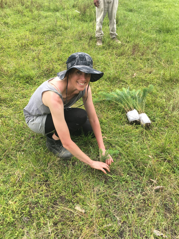 planting trees in Chiapas
