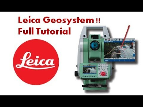 Leica Geosystem TS11 How To Make Job Full Tutorial Surveying Tools And Total Station Method