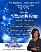 WOMEN'S DAY with Special Guest Jacqueline Griffin (Mother of NFL Quarterback RG3)