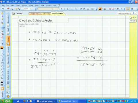 Survey Point #1 Add and Subtract Angles