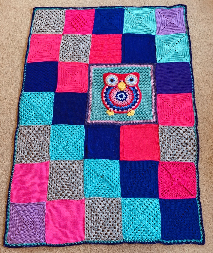 Marion's incredible Owl Mandala.