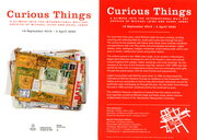 Curious Things - exhibition flyer