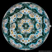 Sacred geometry + Cymatics 21.10 Hz sine wave