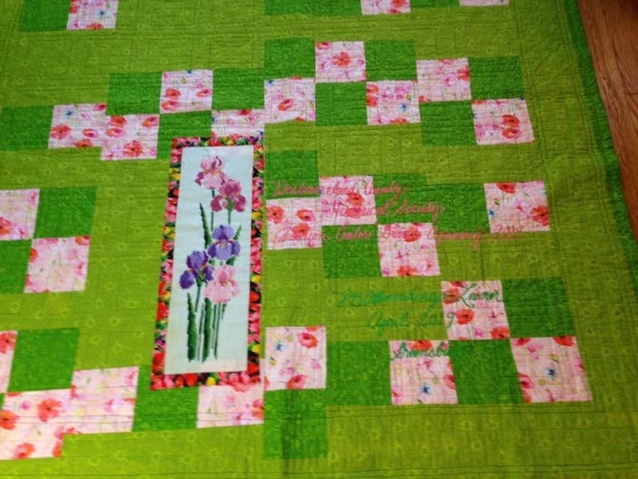 Quilt #158 - Garden Window back