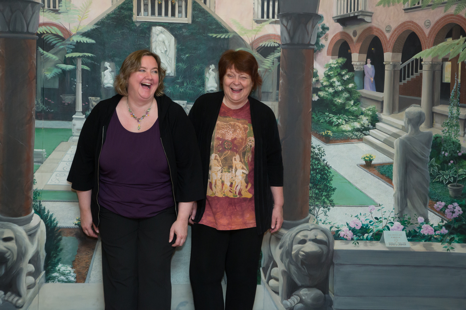 Kelle Sparta and Kathy Scheiern