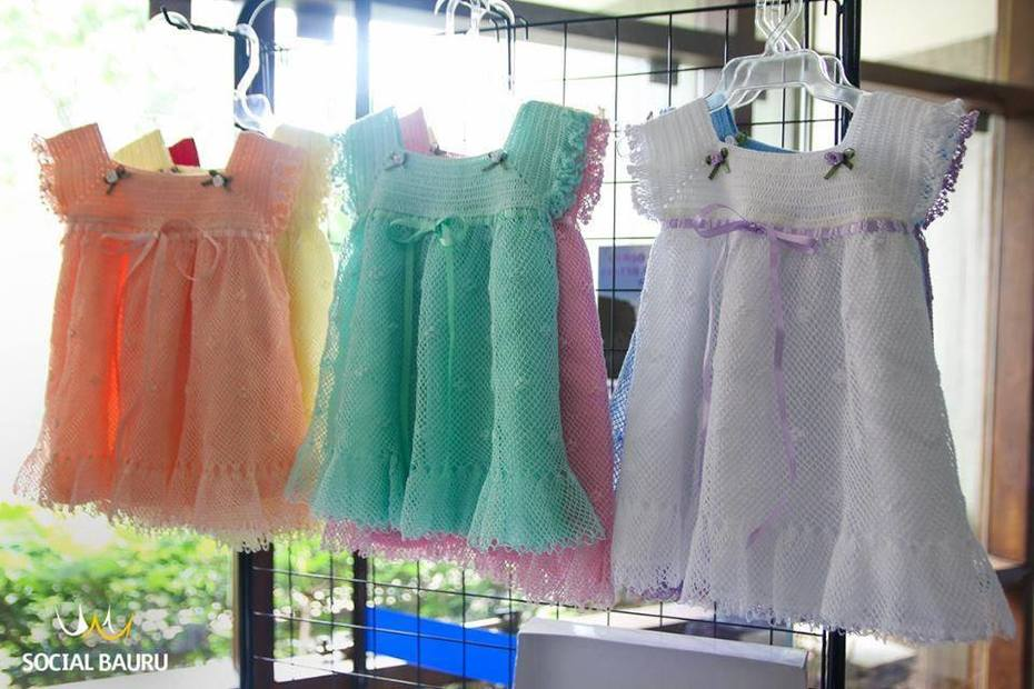 Vestidos para recém nascidos em renda turca