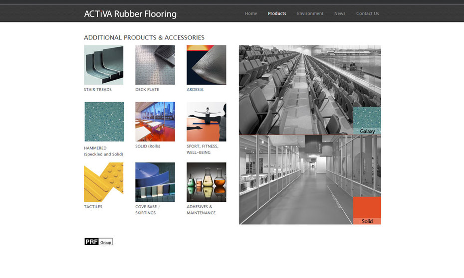 BR500 - the rubber flooring product of choice for Architects