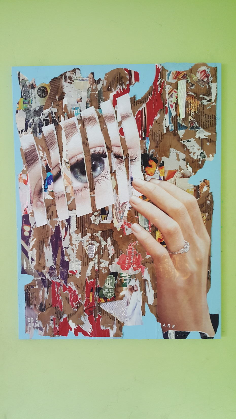 Collage on Canvas #2 30in. by 40in. (1)