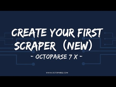 Create your first scraper within minutes with Octoparse