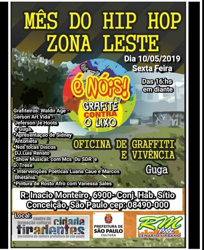 EVENTO DA SEMANA HIP HOP  EM MAIO DE 2019