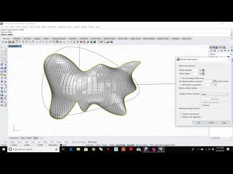 How to make a partition line in Rhino 3D