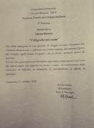 Prima classificata - premio Paolo Brianzi 2019