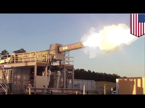 Railgun test firing: US Navy released a cool video of a functional railgun - TomoNews