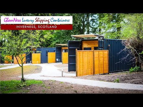 GlamNess Luxury Shipping Containers in Inverness, Scotland UK