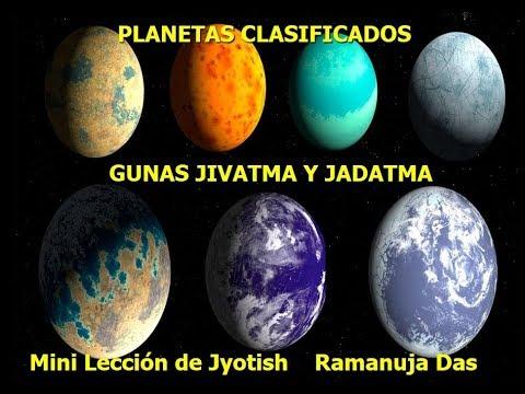 LOS PLANETAS CLASIFICADOS EN GUNAS, JIVATMA Y JADATMA