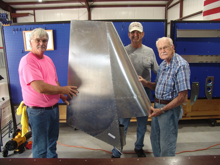 Completed SD750 Rudder Assembly