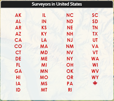 Log In to search for Land Surveyors by location in the United States