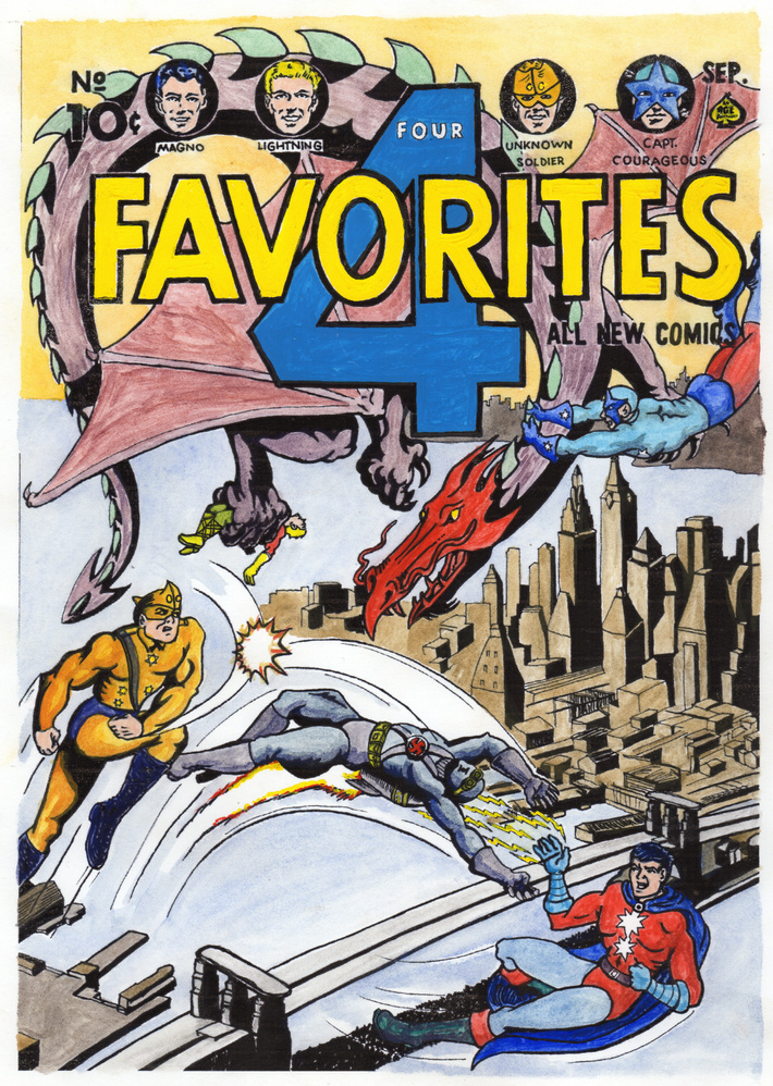 Fictional 4 Favourites comic cover.