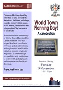 World Town Planning Day! A celebration - free talk