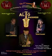 """The 3rd Annual Harold Young Sr. Jazz Workshop Inc. 2019/2020 Trilogy Concert Series presents """"ALTO MADDNESS"""""""
